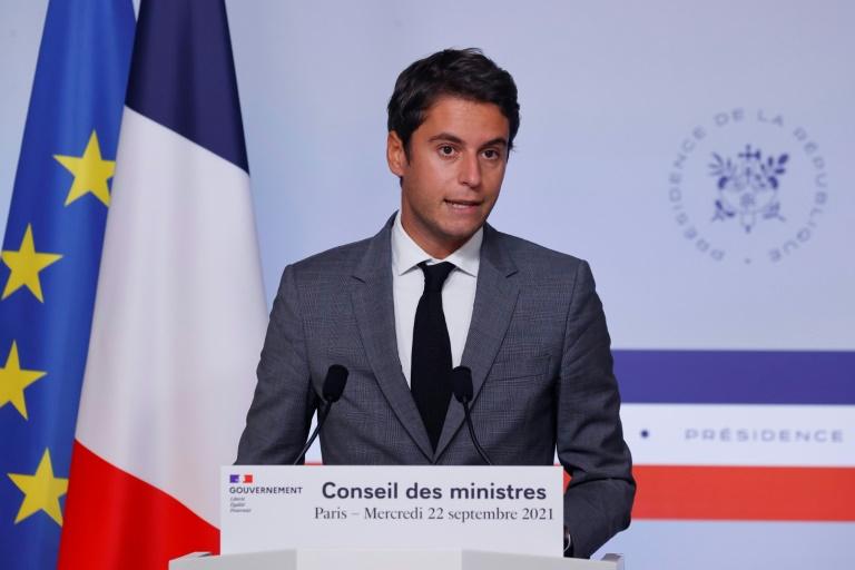 Le porte-parole du gouvernement français, Gabriel Attal, le 22 septembre 2021 à Paris