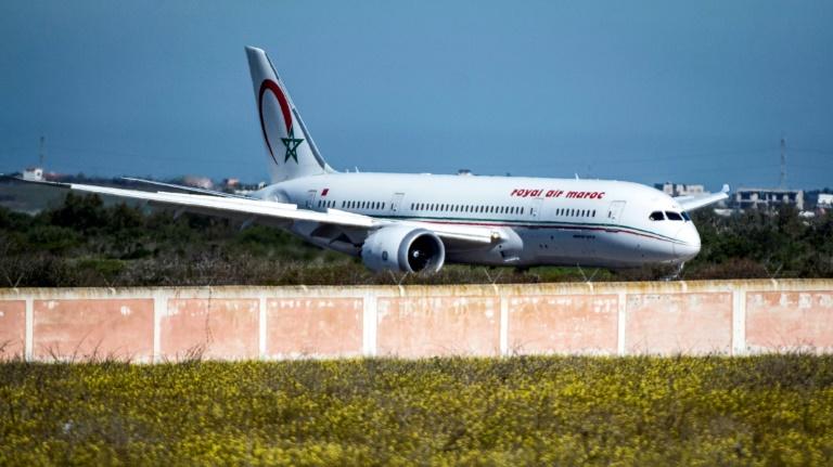 Un Boeing 787-8 de la compagnie Royal Air Maroc à l'aéroport de Benslimane au Maroc, le 2 février 2020
