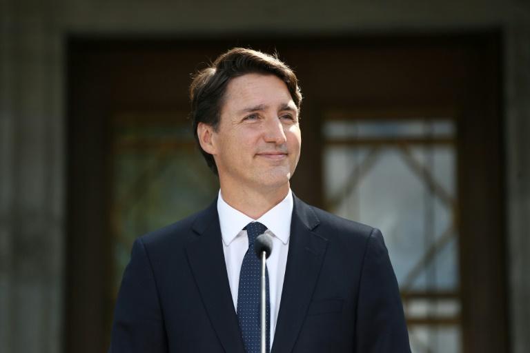 Le premier ministre du Canada Justin Trudeau lors du déclenchement de la campagne électorale le 15 août 2021, à Ottawa, Ontario, Canada