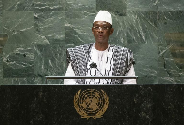 Le Premier ministre malien Choguel Maiga à la tribune de l'Assemblée général de l'ONU le 25 septembre à New York.