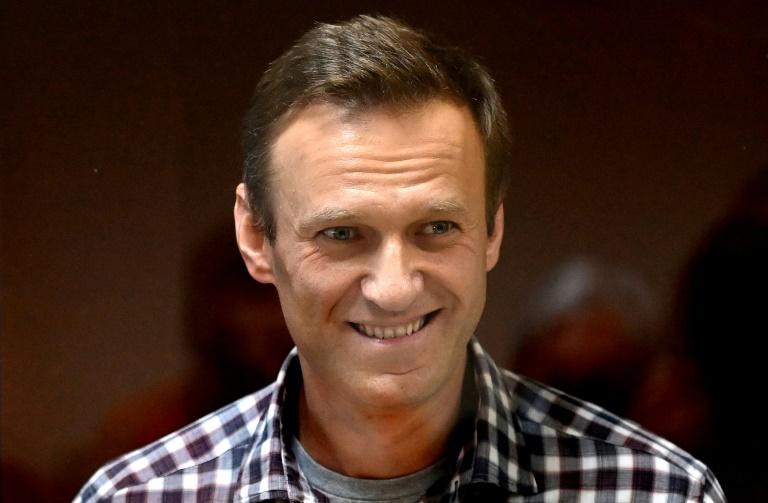 L'opposant russe emprisonné Alexeï Navalny le 20 février 2021 lors d'une audience de justice à Moscou