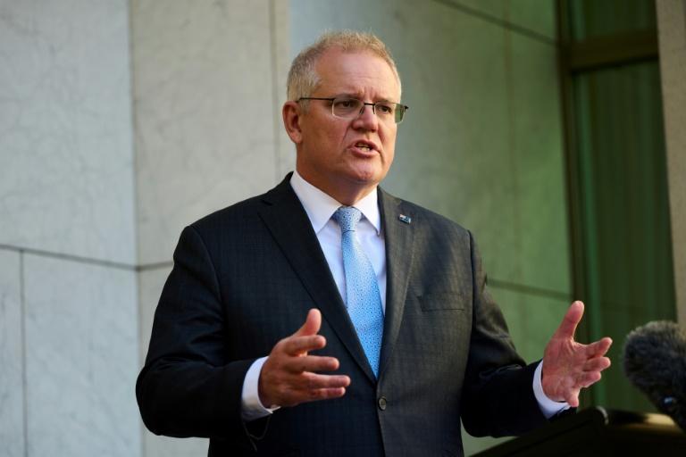 Le Premier ministre australien Scott Morrison à Canberra, le 17 août 2021