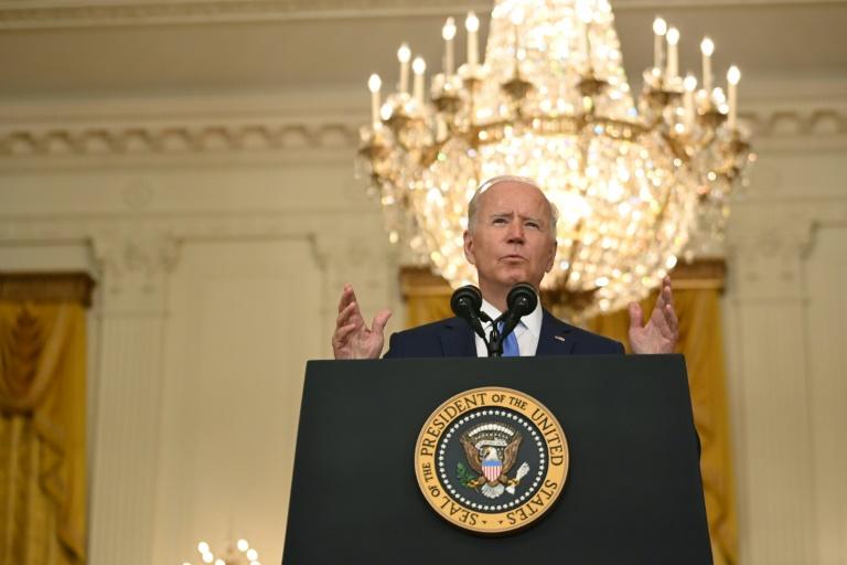 Le président américain Joe Biden défend son programme économique et social, le 16 septembre 2021 à la Maison Blanche