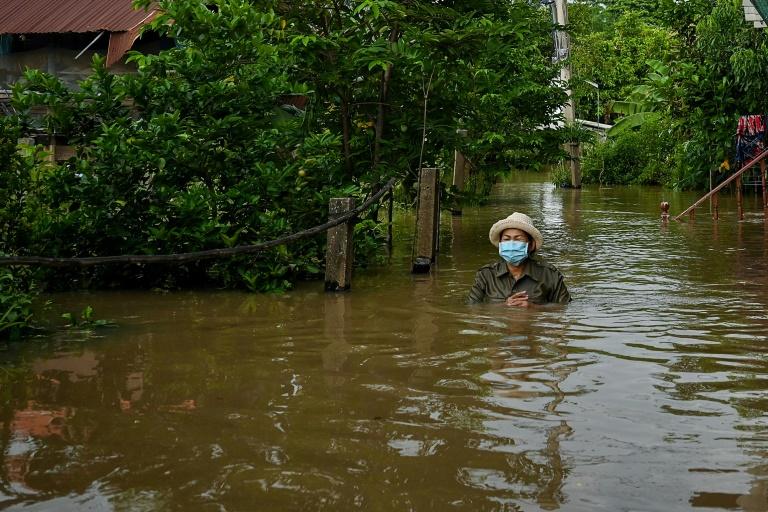 Les inondations dans la province de Ayutthaya, dans la centre de la Thaïlande, le 28 septembre 2021