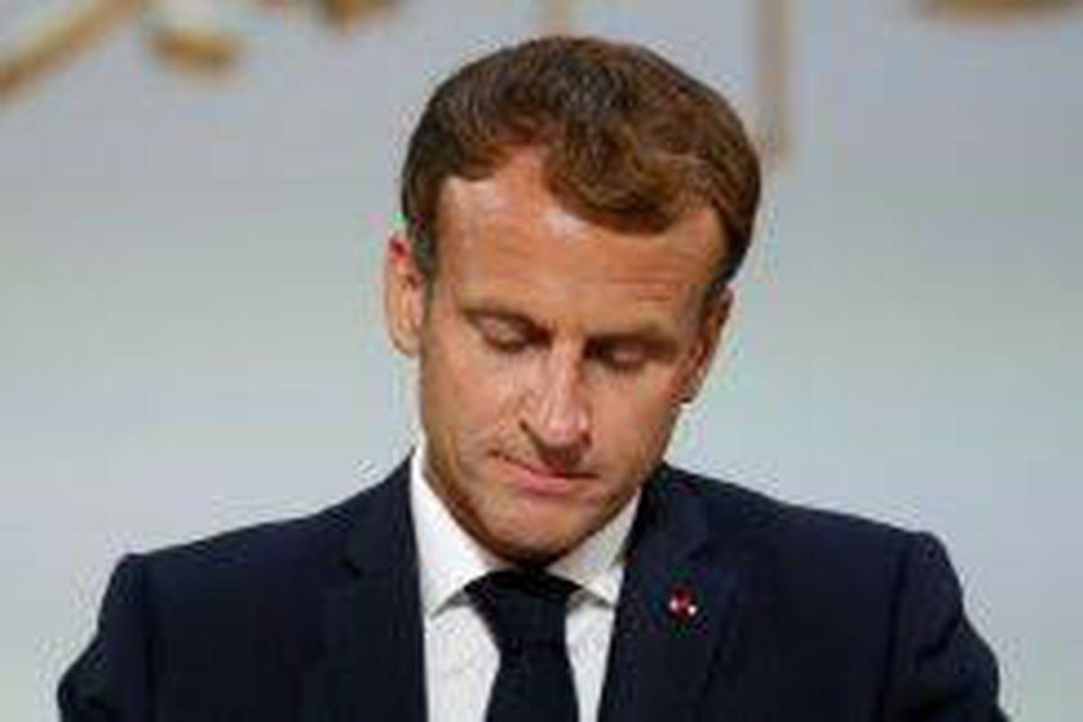 <p/>Le président français Emmanuel Macron prononce un discours lors d'une cér                 </div>             </div>          </div>                   <div class=