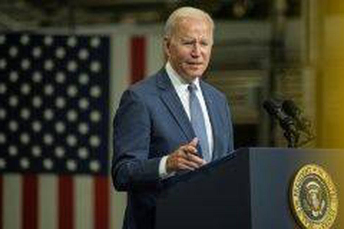 <p/>Joe Biden à Kearny (New Jersey) le 25 octobre 2021