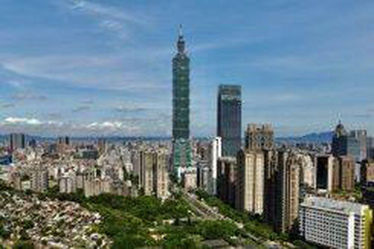 <p/>Vue de Taipei, capitale de Taîwan, en juillet 2021