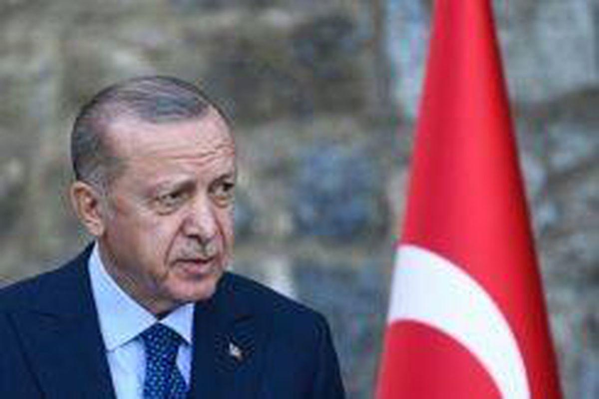 <p/>Le président turc Recep Tayyip Erdogan, le 16 octobre 2021 à Istanbul                 </div>             </div>          </div>                   <div class=